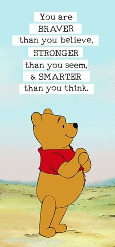 Author A.A. Milne has an endless amount of inspirational sayings in Winnie the Pooh that are sure to touch your heart. Find out which one is perfect for you! Disney Characters, Fictional Characters, Winnie The Pooh, Winnie The Pooh Ears, Pooh Bear, Fantasy Characters, Disney Face Characters