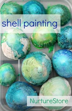 Shell painting :: beach theme art Shell painting techniques : beach theme art, easy shell crafts for kids, sea theme art, Beach Crafts For Kids, Beach Themed Crafts, Summer Crafts, Art For Kids, Ocean Crafts, Beach Kids, Kids Crafts, Ocean Themes, Beach Themes