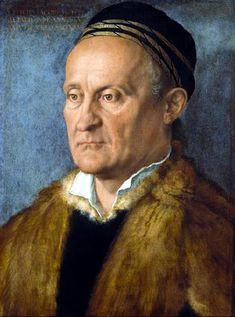 """""""Retrato de Jakob Muffel""""   Retrato de Alberto Durero, pintado hacia el final de su vida, en 1526. El artista saca a relucir todo su talento, estilística renacentista, realismo para plasmar este fino retrato, hecho a Jakob Muffel, cargo público en Núremberg, y quien moriría ese mismo año.  Actualmente se encuentra en la pinacoteca La Gemäldegalerie, en Berlín, Alemania."""
