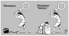 Charge do cartunista Latuff sobre o discurso misândrico de algumas alas extremistas do feminismo