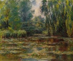 Artify Collections - Bridge over a Pond of Water Lilies 1920 By Claude Monet, $97.40 (http://artifycollections.com/bridge-over-a-pond-of-water-lilies-1920-by-claude-monet/)