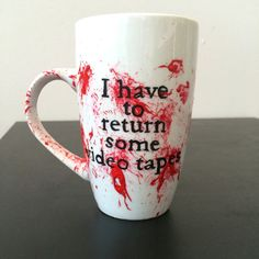 American Psycho bloody mug. | Community Post: 31 Creepy Items Every Horror Fan Should Own