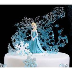 Disque gateau Reine des Neiges Elsa en pate à sucre