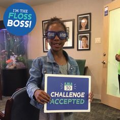 Amiya has accepted our 30 Day Floss Challenge! Let's hear it for Amiya! 👏🎉🎊 Show us how you #flosslikeaboss 😁 #genecovgrin #teamgenecov #flossboss #challengeaccepted #everydayimflossin #floss #smile #orthodontics #ortho
