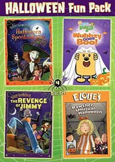 This set of Halloween themed episodes from various family-friendly animated series includes SCARY GODMOTHER: HALLOWEEN SPOOKTAKULAR, WOW WOW WUBBZY: WUBBZY GOES BOO!, SCARY GODMOTHER: THE REVENGE OF J