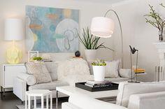 Wonderful White Living Room Decorate Pastel Colors Ideas