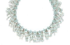 Aquamarine crystal bicone fringe necklace project | BeadStyleMag.com