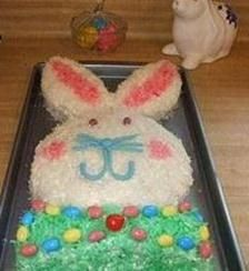 This fella is super cute! Easter Bunny Cake Recipe