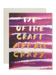 We of the craft are