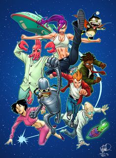 Futurama comic-ified....this is weirding me out so much...