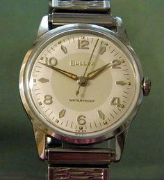 Vintage Bulova Manual Wind Men's Watch, Swiss-Made.