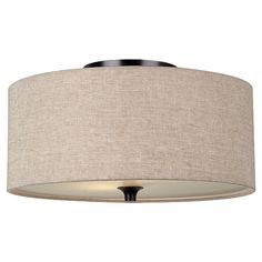 Shop Sea Gull Lighting 14-in W Burnt Sienna Ceiling Flush Mount at Lowes.com - $120  Upstairs hallway