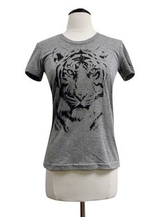 Tiger T Shirt - Big Cat Ladies SOFT American Apparel Shirt - Available in sizes S, M, L, XL. $18.00, via Etsy.