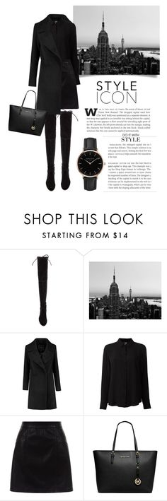 """""""#88"""" by kgarden ❤ liked on Polyvore featuring Stuart Weitzman, WALL, Class Roberto Cavalli, New Look, Michael Kors, Topshop and Kershaw"""