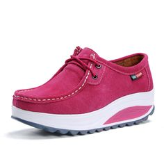 2014 new arrival autumn woman genuine leather shoes wedges heel elevated sneakers for women platform shoes