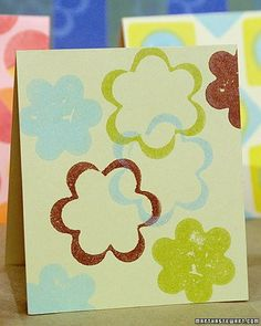 With a few good-size potatoes and assorted miniature cookie cutters, you and your kids can make personalized wrapping paper, cards, T-shirts, place mats, and napkins.