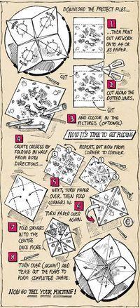 Fortune Teller folding