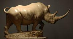 White Rhino in clay by JordanAbernethy on deviantART