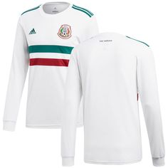 4ca06894d78 Mexico National Team adidas 2018 Away Replica Long Sleeve Blank Jersey –  White/Green