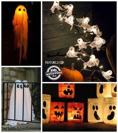 The perfect list of ghost crafts, recipes and FUN! Perfect for Halloween.