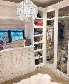 walk in closet ideas organization; small walk in closet ideas; Dressing Room Closet, Closet Bedroom, Bedroom Decor, Dressing Rooms, Master Closet, Closet Space, Walk In Closet Design, Closet Designs, Dream Closets