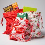 Sew Reusable Gift Bags the Sizes You Need.  Perfect to use the fabrics from your stash!