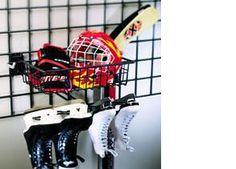 Garage hockey gear storage ideas