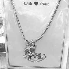 Juicy Couture necklace Silver Juicy Couture necklace Juicy Couture Jewelry Necklaces