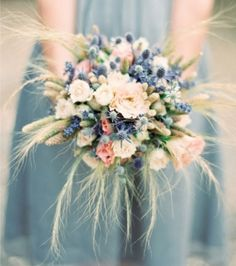Southern Blue Celebrations: Blue Bridal Bouquets Ideas & Inspirations