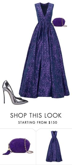 """""""🍾"""" by sena12kan ❤ liked on Polyvore featuring Chanel, ML Monique Lhuillier and Casadei"""