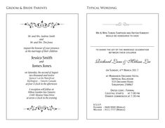 Wedding Invitation Samples Wording