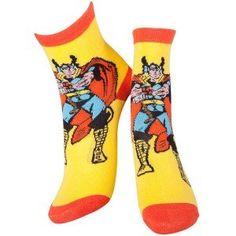 Marvel Thor - Thor and Mjölnir sokken geel/rood - Superhelden merchandise strips Hulk Marvel, Marvel Comics, Avengers, Pokemon Go, Mode Geek, Knitted Christmas Jumpers, Yellow Socks, Super Hero Outfits, Calf Socks