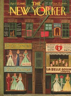 Gown Shop. New Yorker Magazine, April 27, 1946 (Witold Gordon)