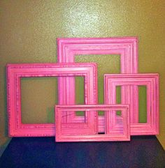 Painted frames always available! Pick your color and we will paint them!