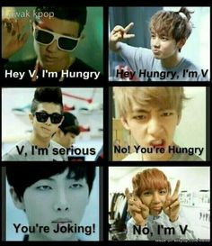 Meme BTS Rap Monster & V.