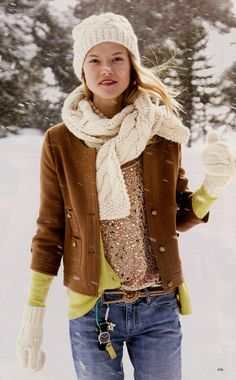 Cute winter layering. I love every piece. From the J. Crew Holiday in Chile 2009 Catalog