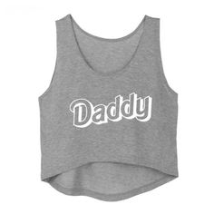 9236c62025a34 Daddy Cropped Tank Top Belly Shirt In Plus Sizes and Multiple Colors. Cute  90s Barbie