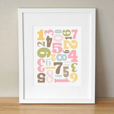 Number Jumble 8 x 10 now featured on Fab.