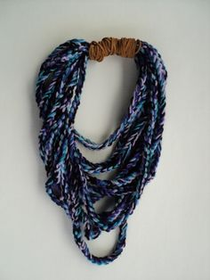 The perfect quick & easy accessory.  Chunky Crochet Chain Necklace by BekkaPoo