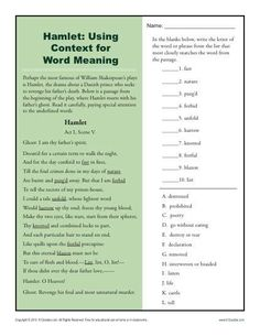 english worksheet imagery in macbeth reading worksheets pinterest worksheets english and. Black Bedroom Furniture Sets. Home Design Ideas