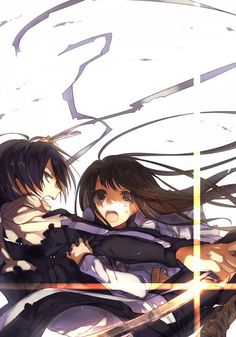 animeauthority:Yato & Hiyori Iki (Noragami)Illustration by ハザノ Anime Noragami, Manga Anime, Yato And Hiyori, Anime Art, Anime Boys, Hot Anime, Manga Girl, I Love Anime, Awesome Anime