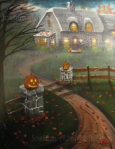 Love Halloween Folk Art!  This would be an awesome art piece