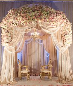 Flora & Eventi ceremony florals and draping