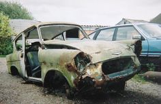 Abandoned Vehicles, Abandoned Cars, Ford Anglia, Rust In Peace, Rusty Cars, Car Ford, Barn Finds, Restore, Motorcycles