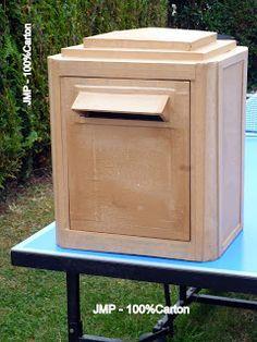 100%Carton: Boite aux lettres - Modèle fabrication Dejoie 1983/1984. Ensembles…