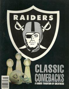 Oakland Los Angeles Raiders 1994 Classic Comebacks Yearbook