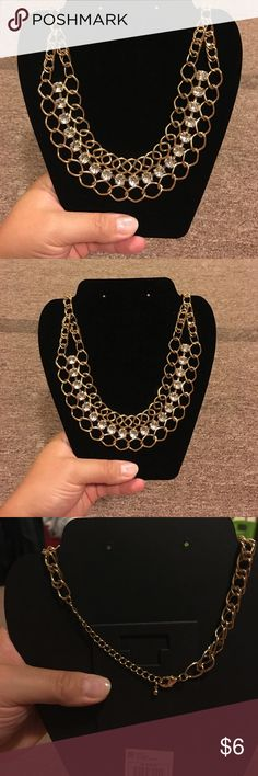 Brand new gold fashion necklace with clear jewels Gold fashion necklace with clear crystals Jewelry Necklaces