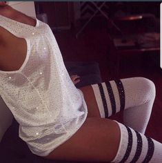 Thigh High Sock Bling