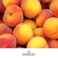 Peaches contain Vitamin A and Vitamin C - both nutrients that help you keep a clear complexion!