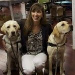 Canine Companions for Independence (cci.org) visit TaskRabbit HQ in San Francisco! Pictured here are two service dogs in training with Founder, Leah. Read the blog post here: http://www.taskrabbit.com/blog/community/canine-companions-visit-taskrabbit-hq/